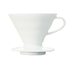 Hario - Bloom - V60-02 Ceramic Coffee Dripper White + 40 Paper Filters