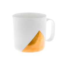 ENDE - 250ml Cup - White Porcelain with Gold Triangle