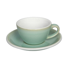 Loveramics Egg - Flat White 150 ml Cup and Saucer  - Basil