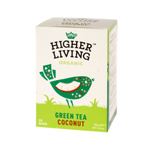 Higher Living Green Tea Coconut - tea - 20 teabags
