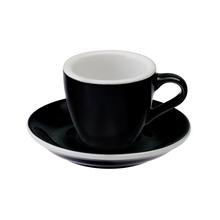 Loveramics Egg - Espresso 80 ml Cup and Saucer - Black