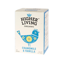 Higher Living Chamomile & Vanilla - tea - 15 teabags