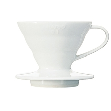 Hario V60 Ceramic Coffee Dripper White 01
