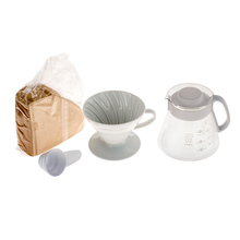 Hario V60 Dripper & Pot White