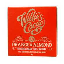 Willie's Cacao - No added sugar - Orange and Almond 50g