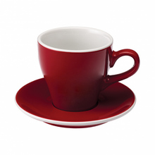 Loveramics Tulip - Cup and saucer - Cafe Latte 280 ml - Red