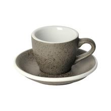 Loveramics Egg - Espresso 80 ml Cup and Saucer - Granite