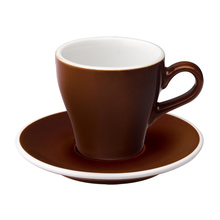 Loveramics Tulip - Cup and saucer - Cappuccino 180 ml - Brown