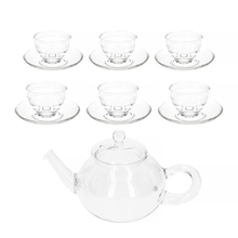 Hario Donau 800 ml Tea Pot + Yunomi Tea Glass Set