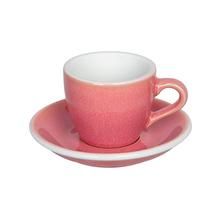 Loveramics Egg - Espresso 80 ml Cup and Saucer - Berry