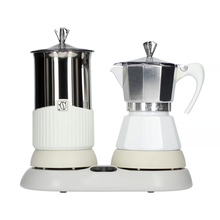G.A.T. Gatpuccino 4tz Electric Moka Pot with a Frother - White