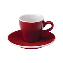 Loveramics Tulip - Cup and saucer - Espresso 80 ml - Red