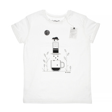 Coffeedesk AeroPress Men's White T-shirt - S