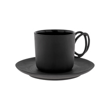 ENDE - 100ml Cup ans Saucer - Espresso Twist - Black