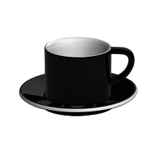 Loveramics Bond - 150 ml Cappuccino cup and saucer- Black