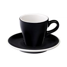 Loveramics Tulip - Cup and saucer - Espresso 80 ml - Black