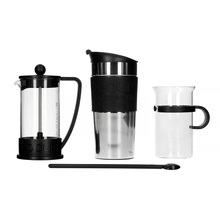 Bodum Coffee Set - French Press + Travel Mug + Glass + Spoon