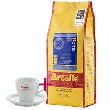 Set: Arcaffe Roma 1kg + Cappuccino Cup and Saucer