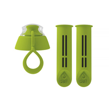 Dafi - 2-Pack of Filters + Bottle Lid - Green