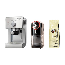 Set: Gran Gaggia Coffee Machine + Melitta Grinder + Caffe Vergnano Coffee