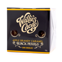 Willie's Cacao - Apple Brandy Caramel Black Pearls 150g