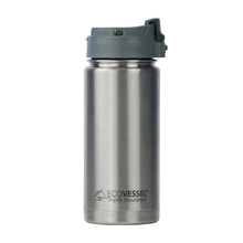 EcoVessel - Insulated Water Bottle Perk - Silver Express 473 ml
