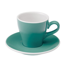 Loveramics Tulip - Cup and saucer - Cappuccino 180 ml - Teal