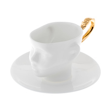 ENDE - 130ml Cup and Saucer - Doll Head with Gold