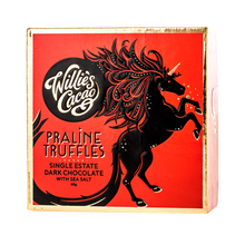 Willie's Cacao - Praline Truffles Dark Chocolate with Sea Salt 35g