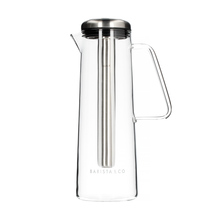 Barista & Co - Glass Ice Bar Coffee Jug - Electric Steel