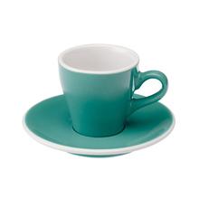 Loveramics Tulip - Cup and saucer - Espresso 80 ml - Teal