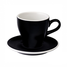 Loveramics Tulip - Cup and saucer - Cafe Latte 280 ml - Black