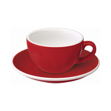 Loveramics Egg - Flat White 150 ml Cup and Saucer  - Red
