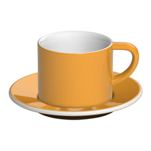 Loveramics Bond - 150 ml Cappuccino cup and saucer - Yellow