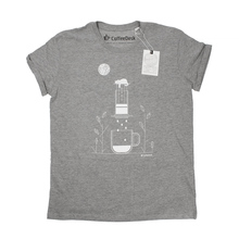 Coffeedesk AeroPress Men's Grey T-shirt - L