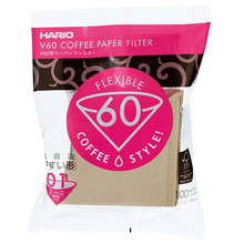 Hario Misarashi brown paper filters - V60-01 - 100 pieces