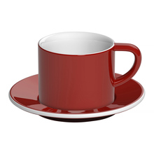 Loveramics Bond - 150 ml Cappuccino cup and saucer - Red