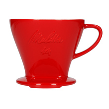 Melitta - Porcelain coffee filter (dripper) 1x4 - Red