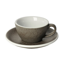 Loveramics Egg - Flat White 150 ml Cup and Saucer - Granite