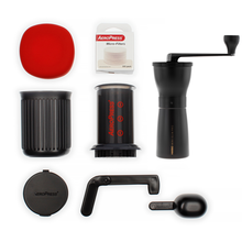 Set: AeroPress Go + Hario Ceramic Coffee Mill Mini-Slim PRO Black