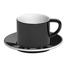 Loveramics Bond - 150 ml Cappuccino cup and saucer - Black