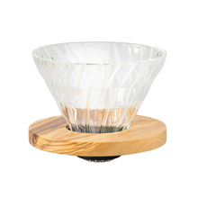 Hario V60 Glass Dripper 02 - Olive Wood