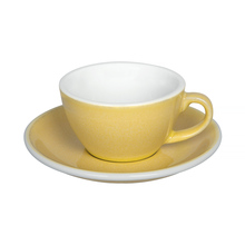 Loveramics Egg - Flat White 150 ml Cup and Saucer  - Butter Cup
