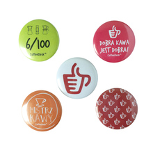 A set of 5 Coffeedesk pins