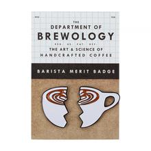 Department of Brewology - Split Latte Pin