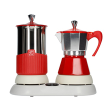 G.A.T. Gatpuccino 4tz Electric Moka Pot with a Frother - Red