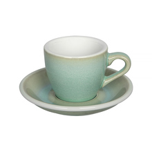 Loveramics Egg - Espresso 80 ml Cup and Saucer - Basil