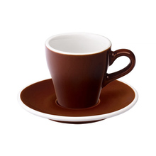 Loveramics Tulip - Cup and saucer - Espresso 80 ml - Brown