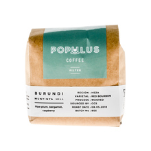 Populus Coffee - Burundi Muninya Hill