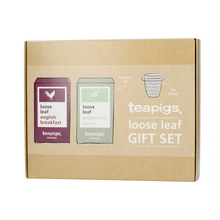 teapigs Loose Leaf Gift Set - English Breakfast and Peppermint Leaves with Infuser